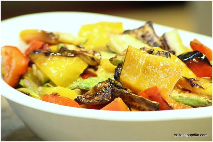 סלט ירקות קלויים